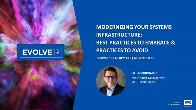 Modernizing Your Systems Infrastructure