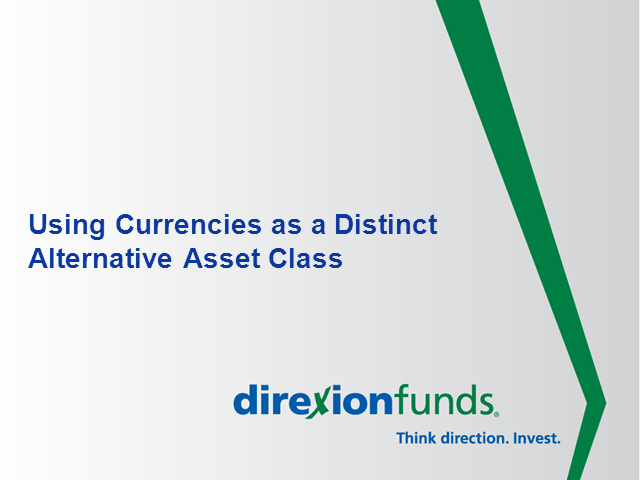 Using Currencies As A Distinct Alternative Asset Class