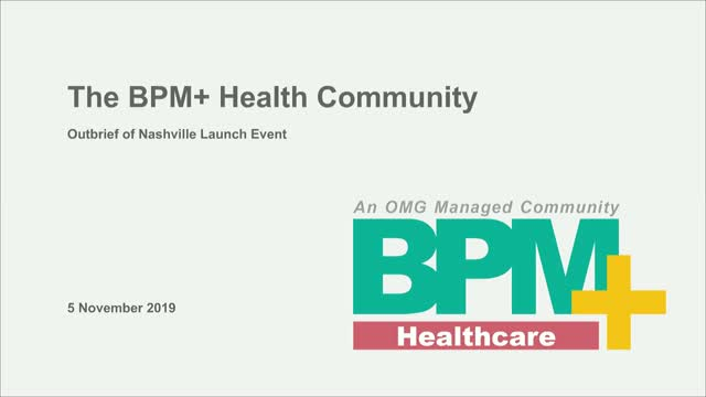 BPM+ Health Workgroup Updates