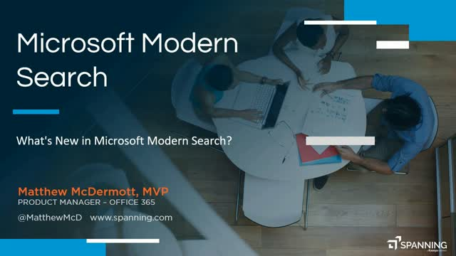 What's New in Modern Search for Office 365