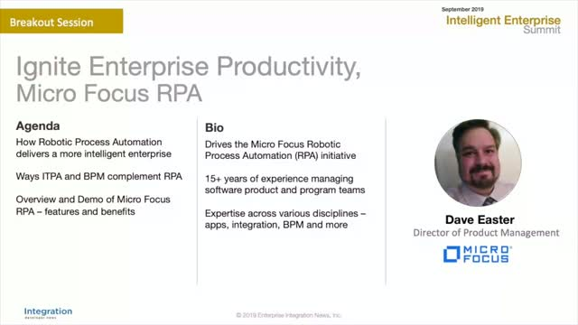 Ignite Enterprise Productivity with Micro Focus RPA