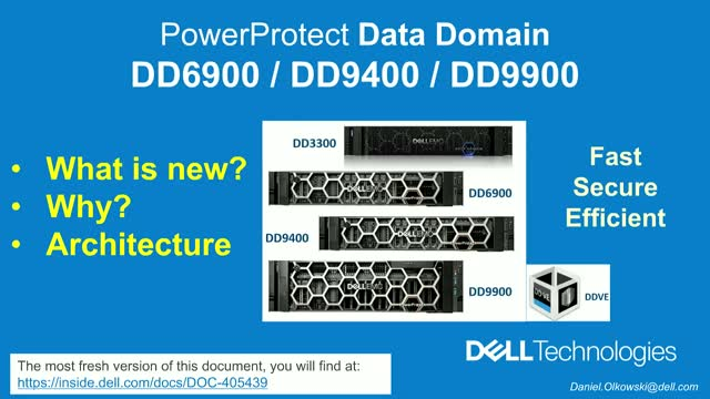 New models of Data Domain – What is changed? Why? Architecture