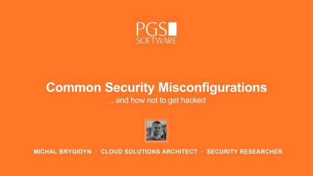 Common Security Misconfigurations and How Not to Get Hacked