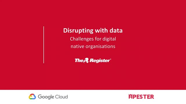 Disrupting with data: challenges for tech organizations