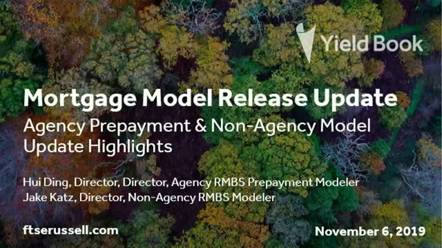 Mortgage Model Release Update
