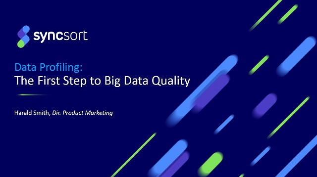Data Profiling: First Step to Big Data Quality