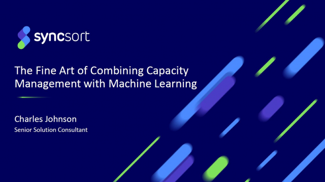 The Fine Art of combining Capacity Management and Machine Learning