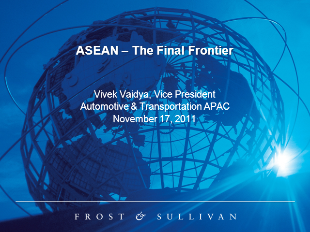 ASEAN - The Final Frontier