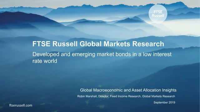 Developed and emerging market bonds in a low interest rate world