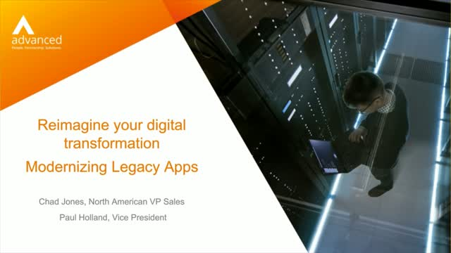 Reimagine your digital transformation - Modernizing Legacy Applications