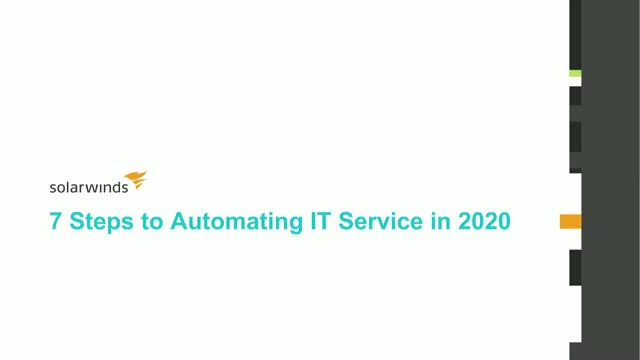 7 Steps to Automating IT Service in 2020