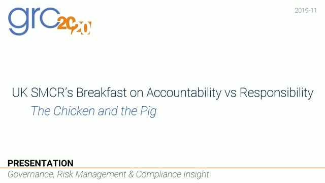SMCR's Breakfast on Accountability vs Responsibility- The Chicken and the Pig
