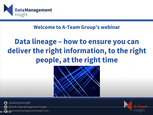 Data Lineage: Deliver the Right Info, to the Right People, at the Right Time