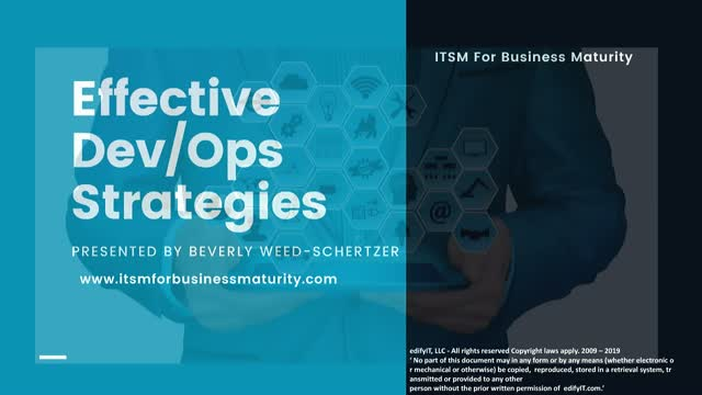 Effective Dev/Ops Strategies