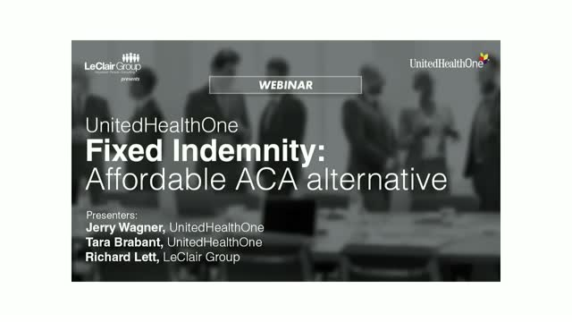 UnitedHealthOne Fixed Indemnity: Affordable ACA Alternative