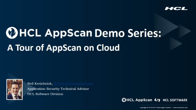 HCL AppScan Demo Series (Part 1): A Tour of AppScan on Cloud