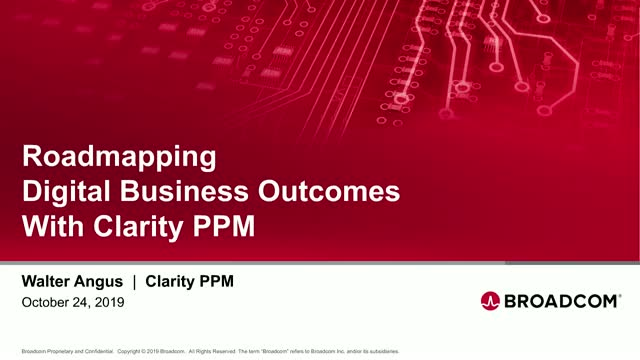 Roadmapping Digital Business Outcomes with Clarity PPM