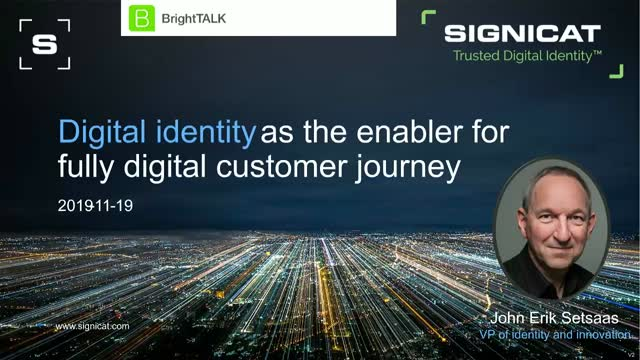Digital identity as the enabler for fully digital customer journey
