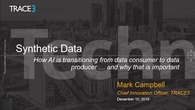 Synthetic Data – AIs transition from Data Consumer to Producer