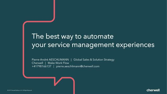 The best way to automate your IT service management experiences