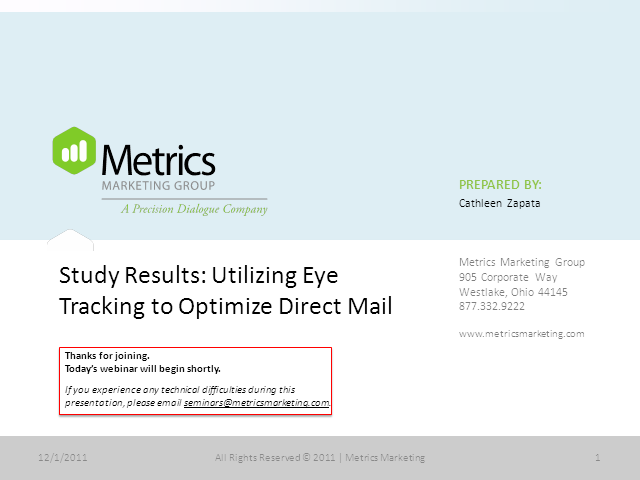 Study Results: Utilizing Eye Tracking to Optimize Direct Mail