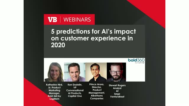 VentureBeat Live: 5 predictions for AI's impact on customer experience in 2020