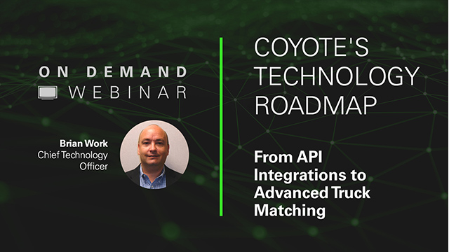 Coyote Technology Roadmap: From API to Advanced Truck Matching