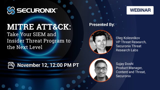 MITRE ATT&CK: Take Your SIEM and Insider Threat Program to the Next Level