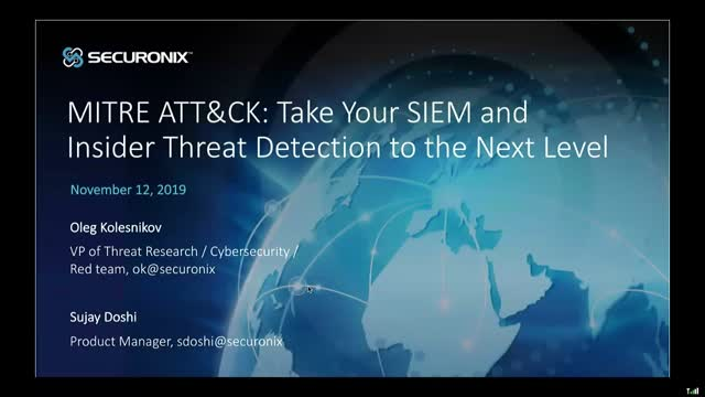 MITRE ATT&CK: Take Your SIEM and Insider Threat Detection to the Next Level