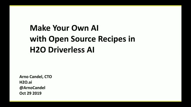 Make Your Own AI with Open Sources Recipes in Driverless AI