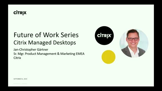 Citrix Managed Desktop - Desktop as a Service from Citrix