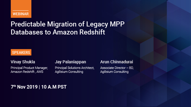 Predictable migration of Legacy MPP databases to Amazon Redshift