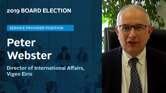 Peter Webster  - 2019 Service provider candidate video