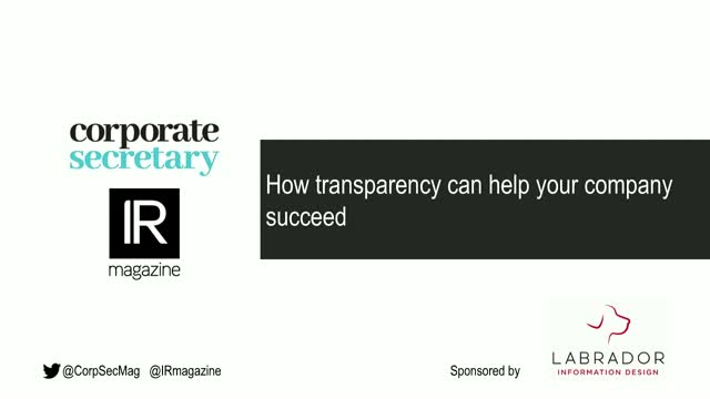 Webinar – How transparency can help your company succeed
