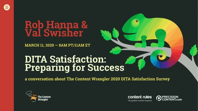 DITA Satisfaction: Preparing for Success