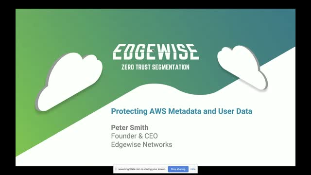 Protecting AWS Metadata and User Data: Edgewise