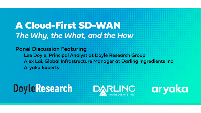 The Cloud-First SD-WAN – The Why, the What, and the How