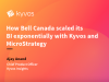 How Bell Canada scaled its BI exponentially with Kyvos and MicroStrategy