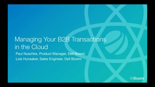 Managing Your B2B Transactions in the Cloud