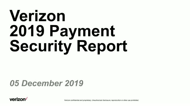 2019 Verizon Payment Security Report  (PSR)