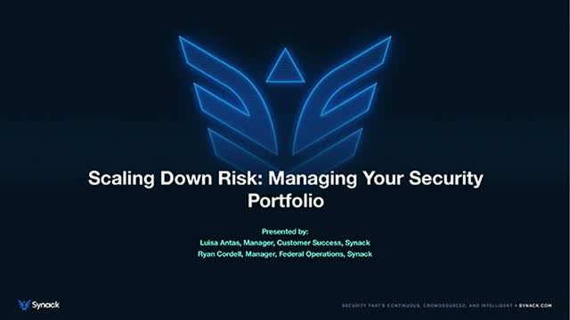 Scaling Down Risk: Managing Your Security Portfolio
