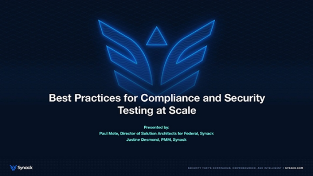 Best Practices for Compliance and Security Testing at Scale