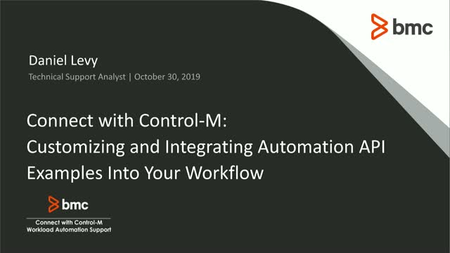 Connect With Control-M: Customizing and Integrating the Automation API Examples