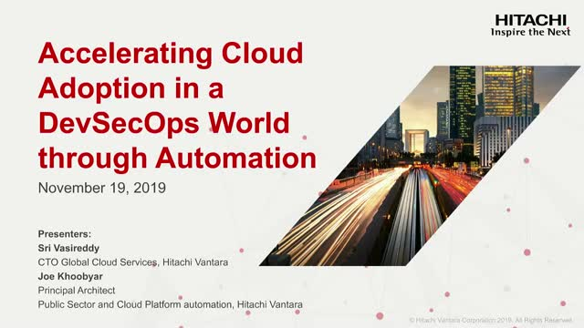 Accelerating Cloud Adoption in a DevSecOps World through Automation
