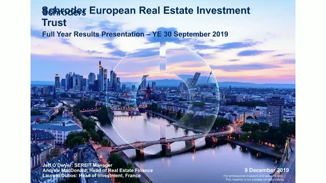 Schroder European Real Estate Investment Trust's Annual Results