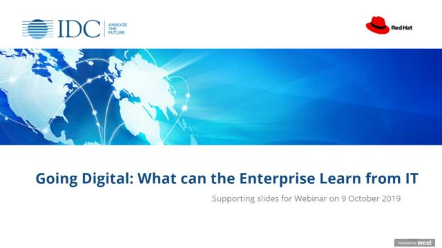 Going Digital - What the enterprise can learn from IT
