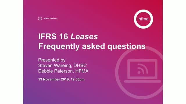 IFRS 16 Leases – frequently asked questions