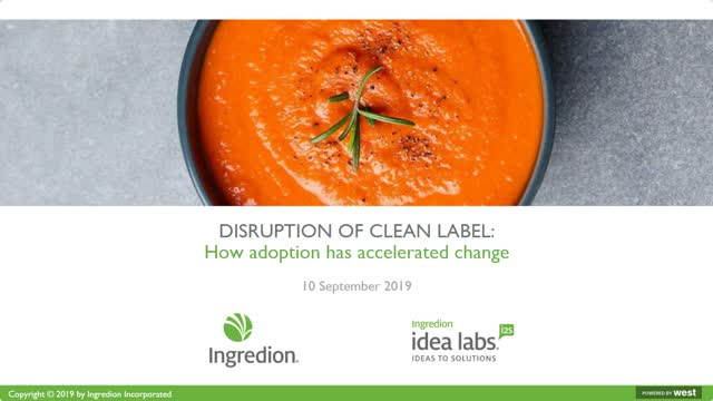 Disruption of clean label: How adoption has accelerated change