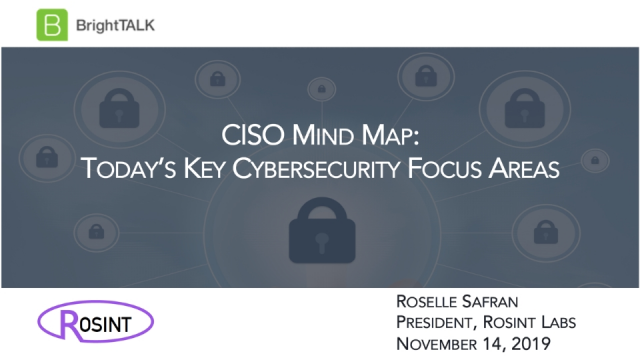CISO Mind Map: Today's Key Cybersecurity Focus Areas