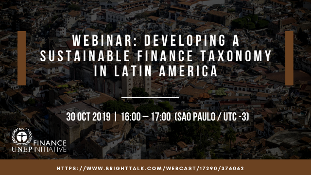 Developing a Sustainable Finance Taxonomy in Latin America
